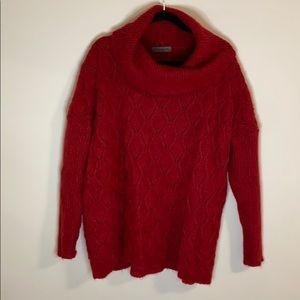 ELSA MANDA - red mohair cowl neck sweater